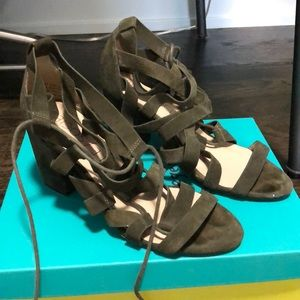 Sole society lace up heels